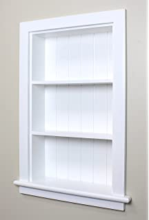 The Concealed Cabinet By Iinnovators 14x24 White Recessed Wall Niche Fox Hollow Furnishings