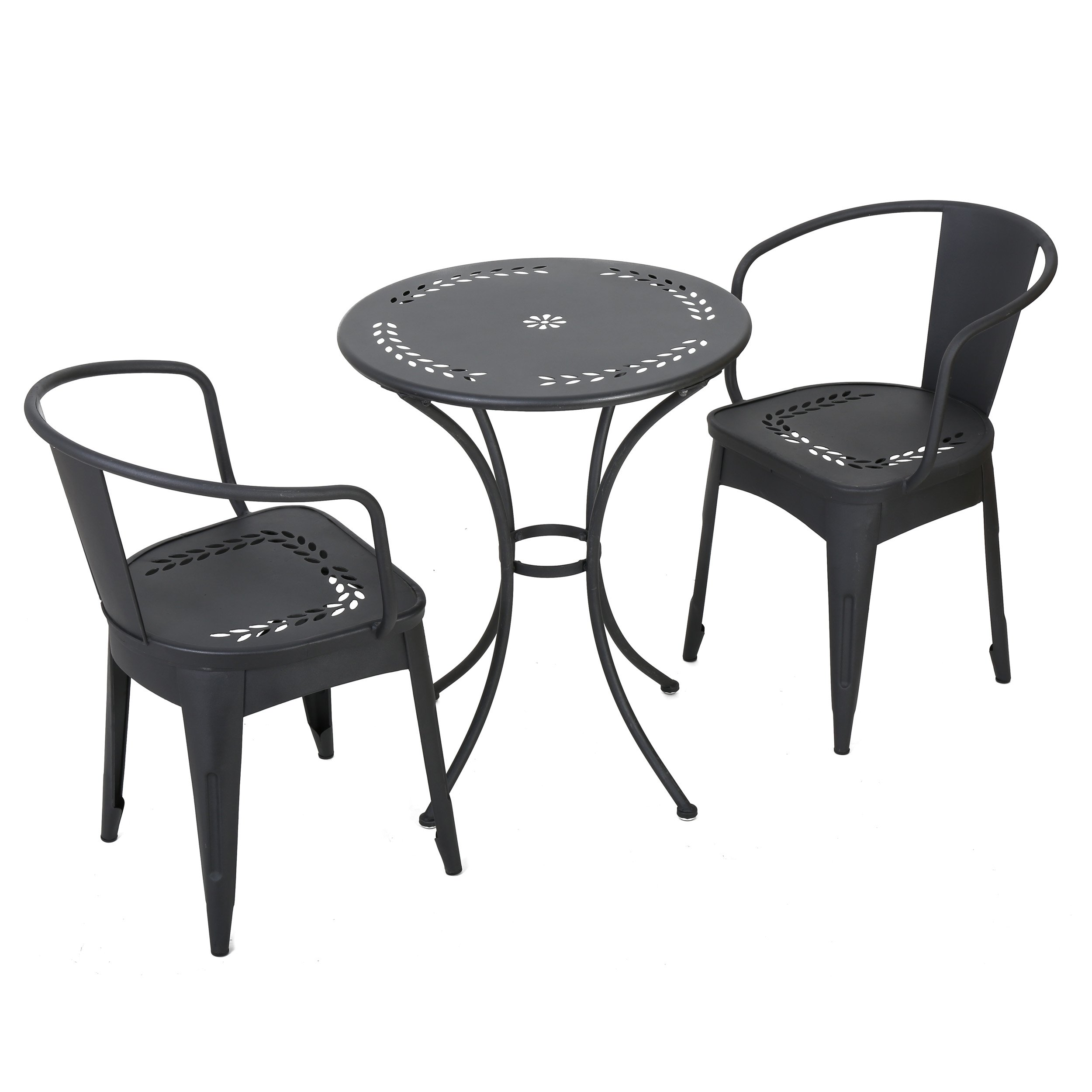 Ansel Childrens Black Table Chat Set by GDF Studio