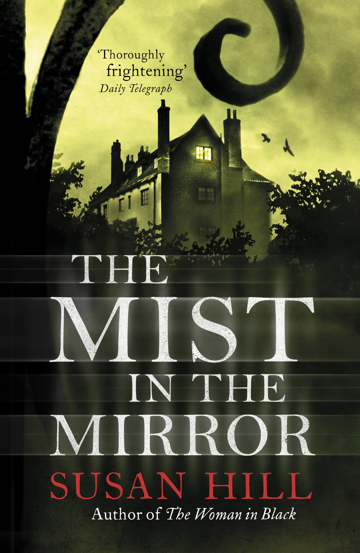 Front cover depicting a large, creepy=looking mansion seen through a wrought-iron gate