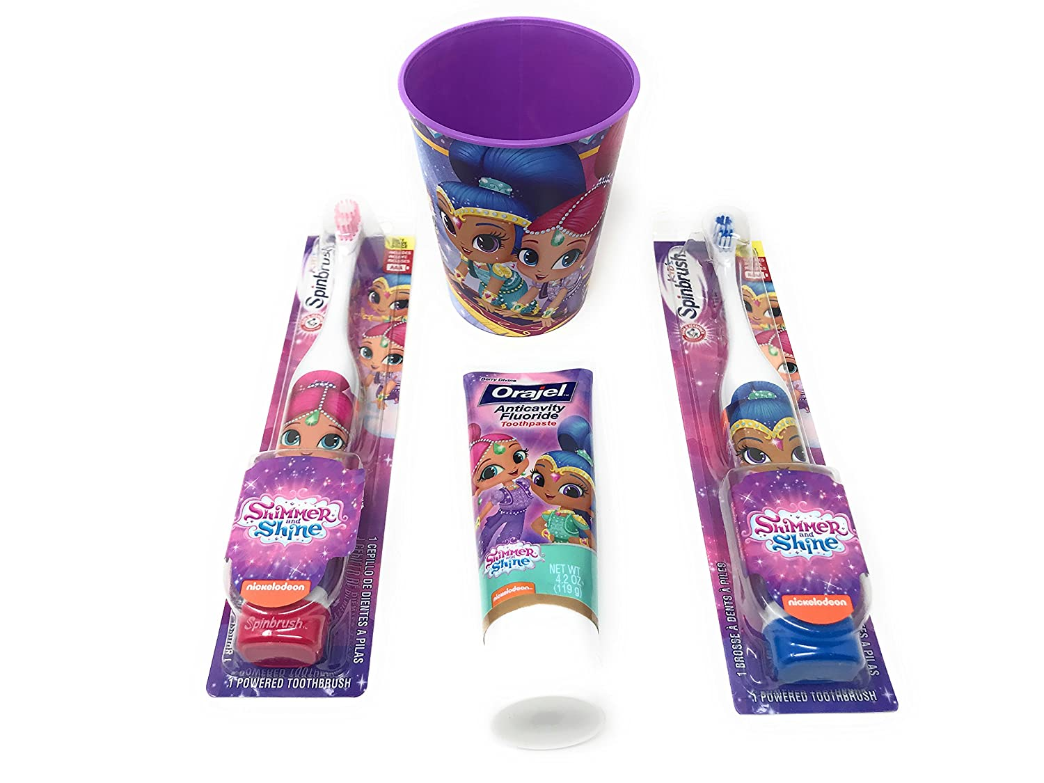 Amazon.com: Shimmer & Shine Spin Brush Set: Beauty