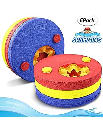 3c0e29fbd31 Manguitos de natación para niños, hechos de espuma, varios colores flotador  bebe piscina Discos