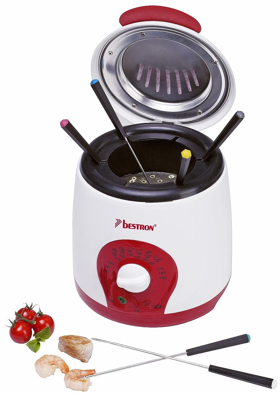 Bestron ADF900 deep fryer - deep fryers (Single, Red, White, Rotary, 50/60 Hz, 220-240 V)