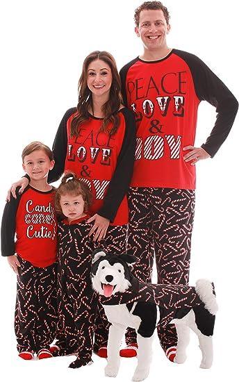 Pijama de Navidad a Juego para Parejas, Perro y dueño