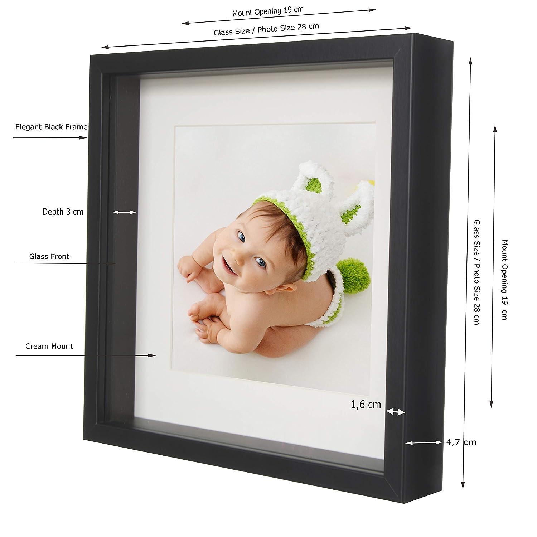 BD ART Cadre Photo 3D avec Passe-Partout Noir 20 x 25 cm 13 x 18 cm