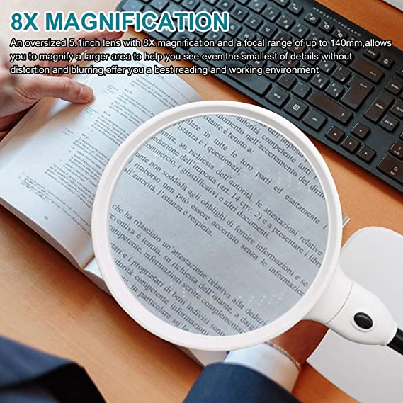 MGRLPYE Beleuchtete Headset-Lupen 8-Fach 15-Fach 23-Fach Mit 2-Fach LED-Beleuchtung