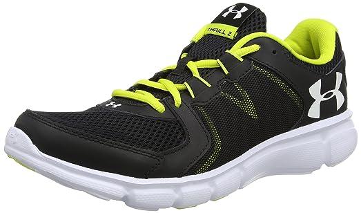 Under Armour Men's UA Thrill 2 Black/Smash Yellow/White Athletic Shoe