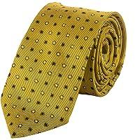Jane Ashe Unisex Micro Fiber Gold Polka Dot Necktie