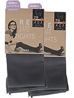 (厚木)ATSUGI 连裤袜 RELISH ORIGINAL (原创品质) 210丹尼尔 肋条花纹连裤袜〈1袋2双〉