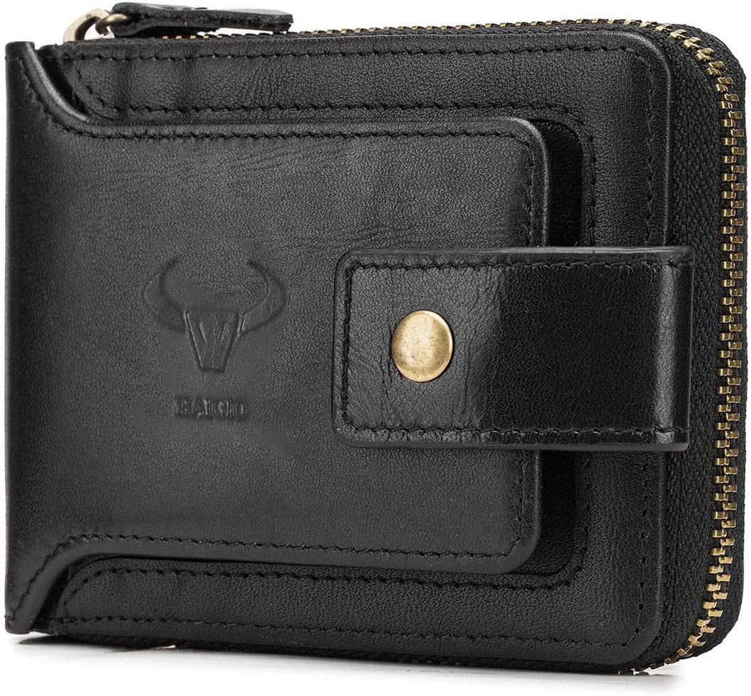 Famous Bogesi High Leather Coin Zipper Wallet 12 ID//Cards Holder Bifold Wallet*