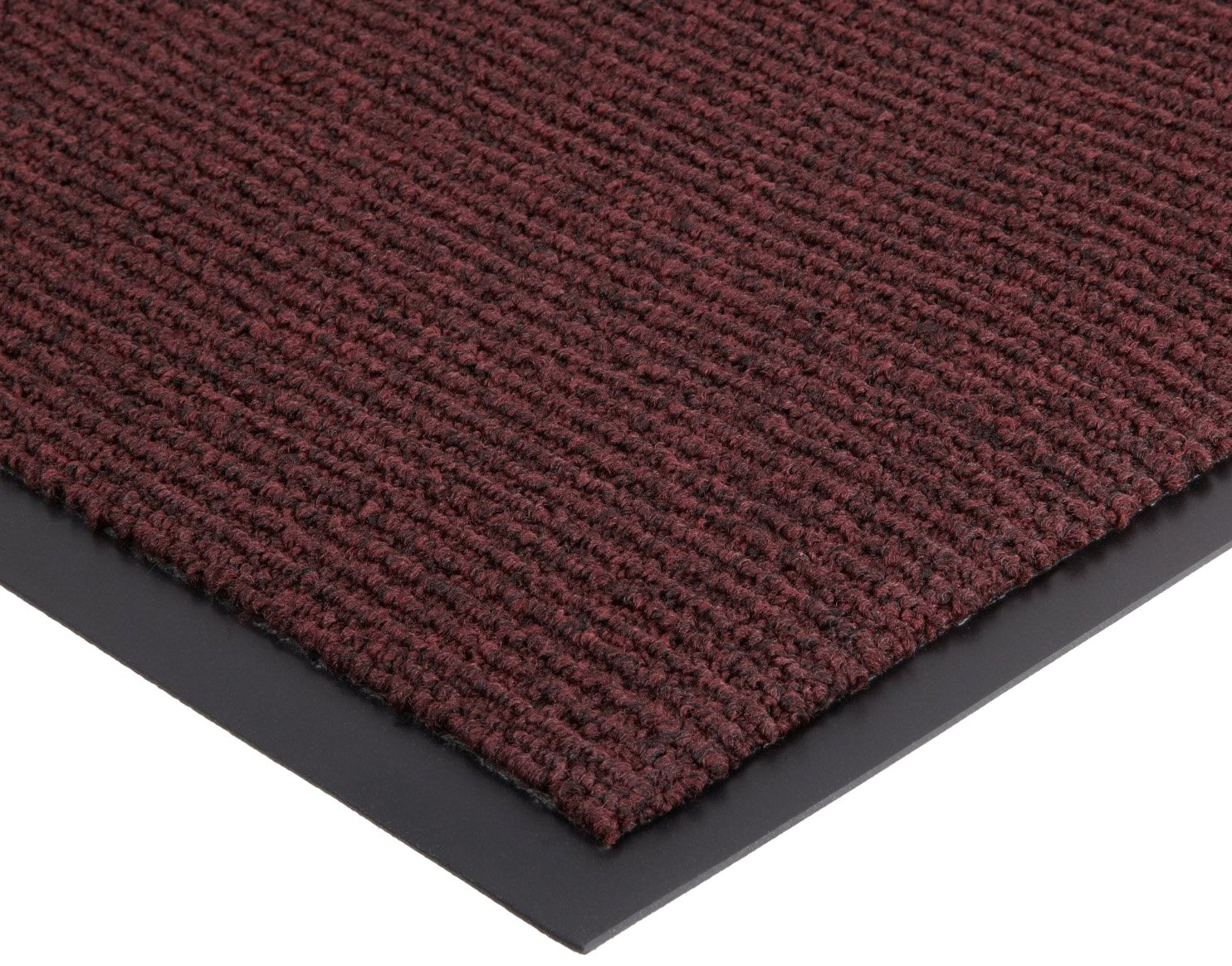 Notrax 132 Estes Entrance Mat, for Main Entranceways and Heavy Traffic Areas, 3' Width x 6' Length x 3/8'' Thickness, Burgundy