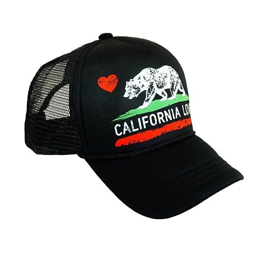 71b800341e582 ... canada california love printed mesh hat california republic bear heart  summer trucker hat adjustable baseball cap