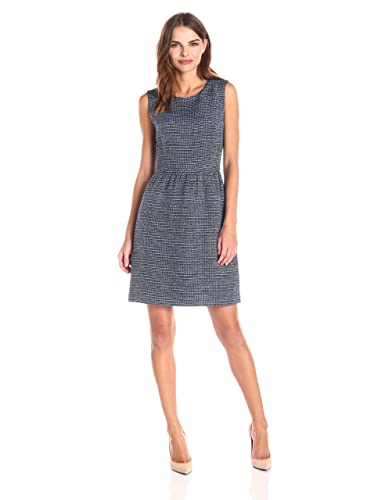 Lark & Ro Women's Sleeveless Tweed Fit-and-Flare Dress