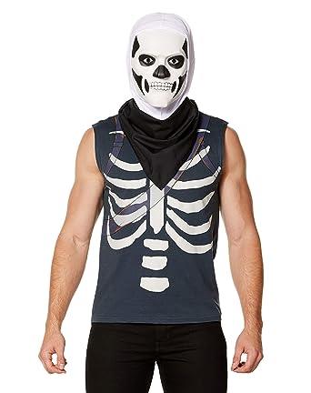 Amazon Com Spirit Halloween Fortnite Skull Trooper Kit Clothing