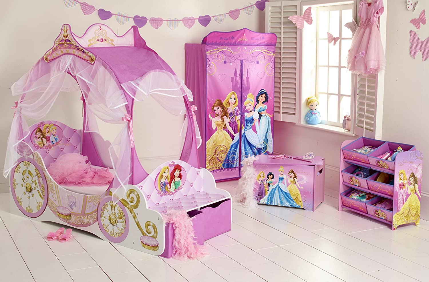 Disney Princess Carriage Kids Toddler Bed by HelloHome: Amazon.co.uk:  Kitchen & Home