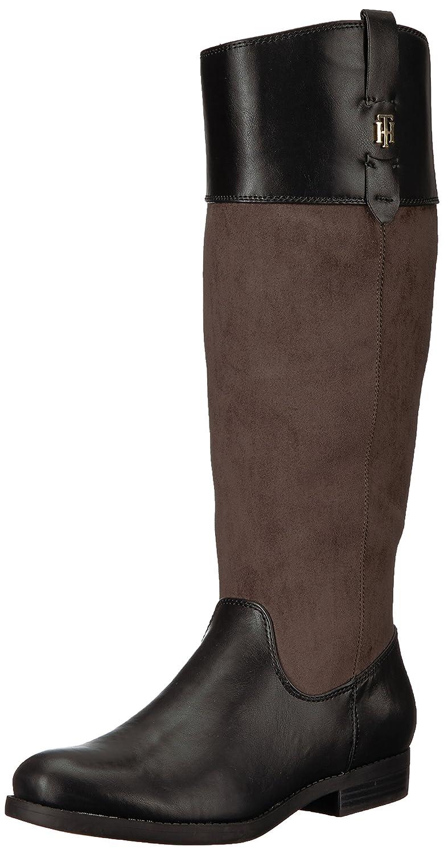 Tommy Hilfiger Women's Sunny Equestrian Boot B06XS553DJ 8 B(M) US|Grey/Black