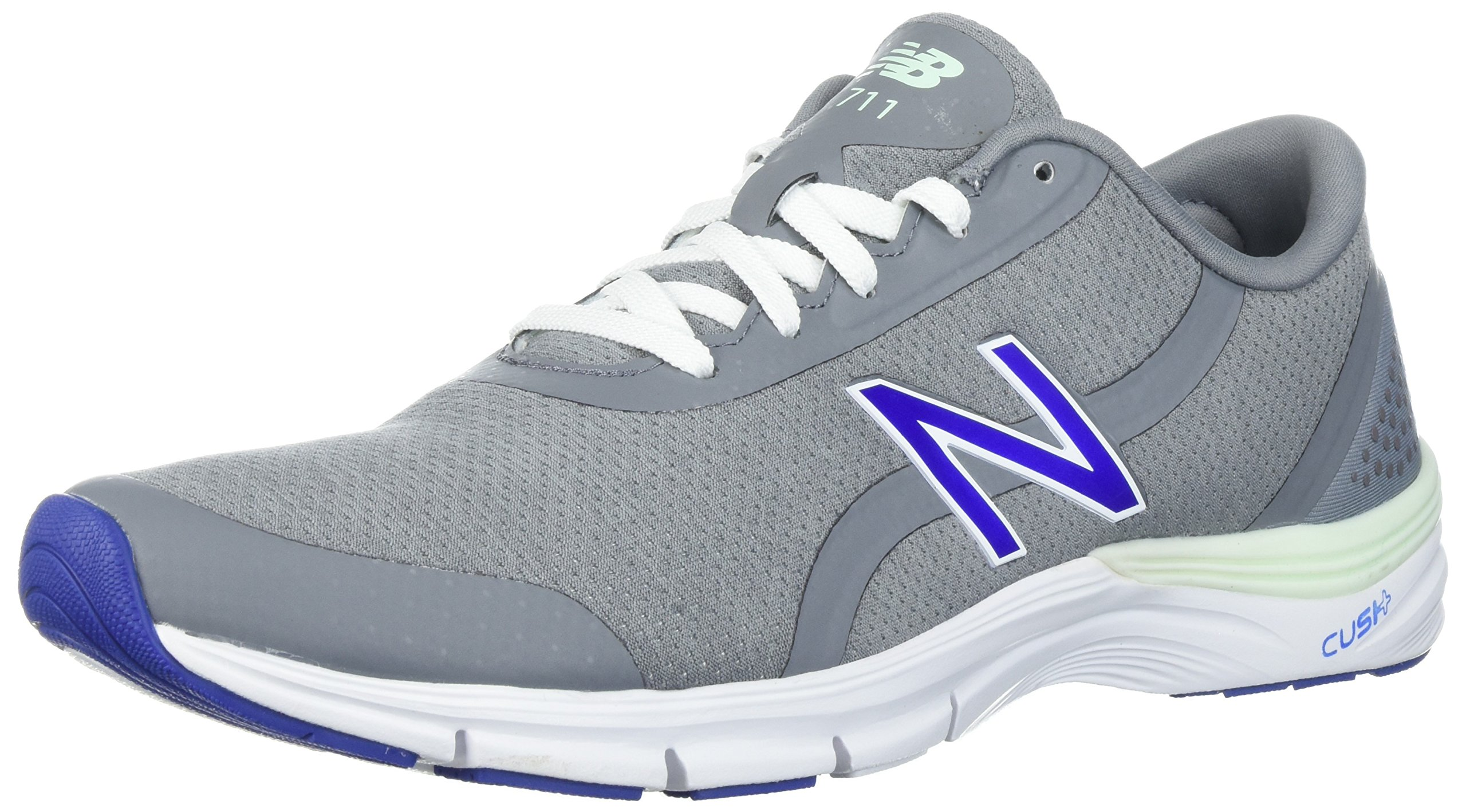 New Balance Women's 711v3 Cross-Trainer-Shoes, Steel/Blue Iris, 10.5 B US