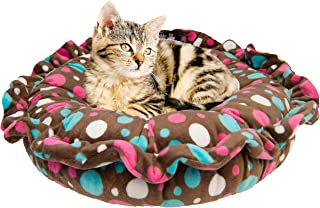 product image for Bessie and Barnie Ultra Plush Cake Pop/ Lollipop Deluxe Luxury Shag Dog/Pet Lily Pod Bed Machine Washable