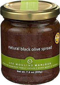 Les Moulins Mahjoub, Spread Black Olive Organic, 7 Ounce