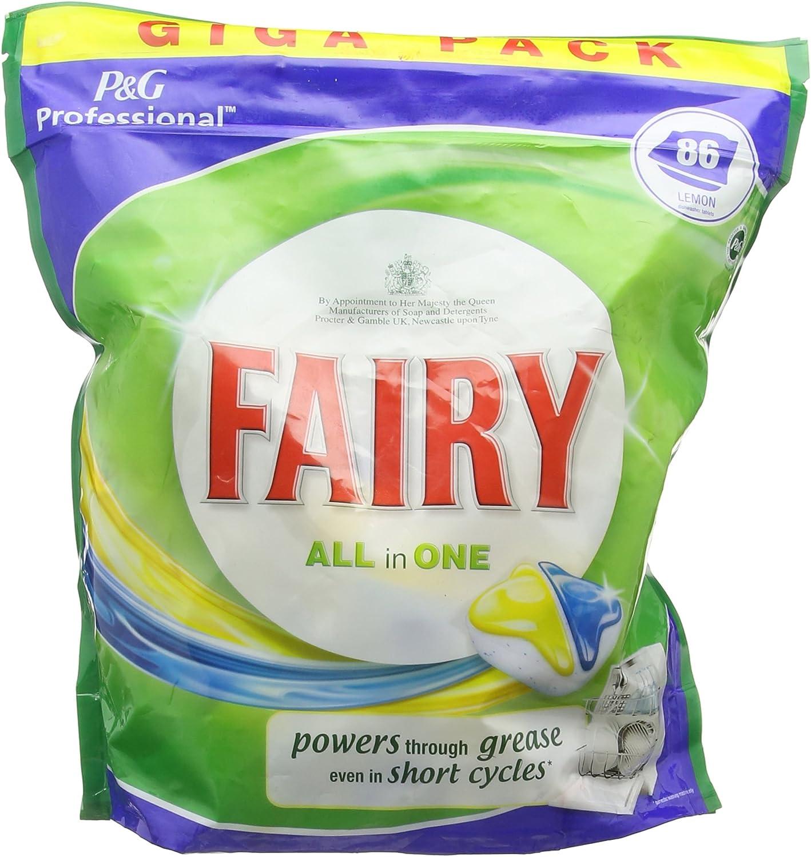 Fairy Todo en Uno 86 Limón lavavajillas tabletas 1398g: Amazon.es ...