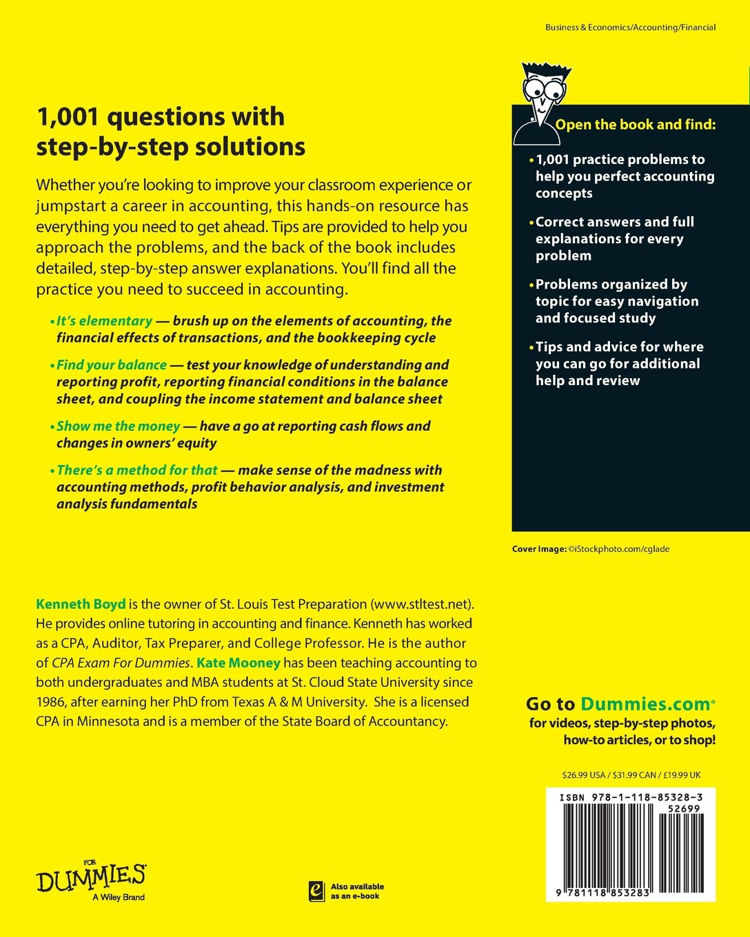 1, 001 Accounting Practice Problems For Dummies: Amazon.co.uk: Kenneth  Boyd, Kate Mooney: 9781118853283: Books
