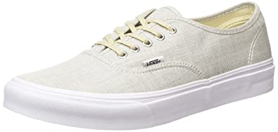 b3fae43058f718 Image Unavailable. Image not available for. Color  Vans Authentic Slim  Sneakers (Chambray) Gray True White Womens 8.5