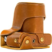 MegaGear MG578 Ever Ready Leather Camera Case and Strap for Fujifilm X-T30, X-T20 (16-50mm / 18-55mm Lenses), X-T10 - Light Brown