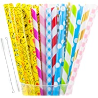 30+2 Pcs Reusable Straws, FDA approved Plastic Reusable Straws, Thick Straws, Fit for Mason Jar, 20 Ounce and 30 Ounce…