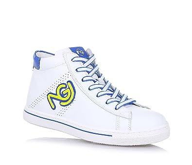NERO GIARDINI - Baskets bleues, en suède, double velcro, garçon,garçons,enfant-32