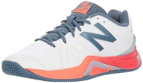 buy popular 44e13 c4961 New Balance Women s 1296v2 Hard Court Tennis Shoe, White, ...