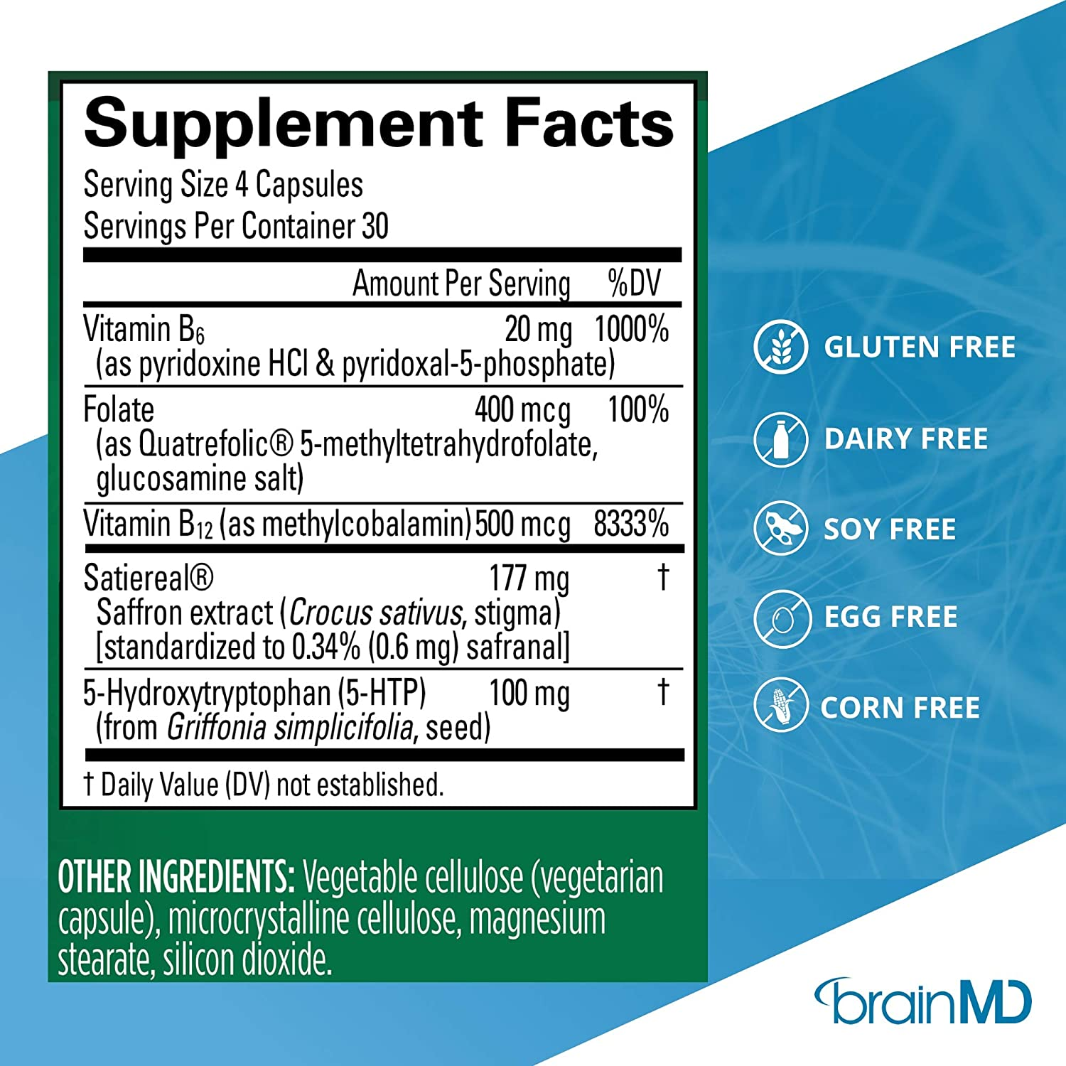 Amazon.com: Dr. Amen Serotonin Mood Support Natural Supplement to Enhance Your Mind, Memory and Mood: Health & Personal Care