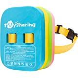 TOYSHARING Back Float Safety Swim Trainer Swimming Bubble Belt with Adjustable Split Layers Swim Bubbles Belts Secure Clip Bu