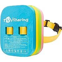 TOYSHARING Back Float Safety Swim Trainer Swimming Bubble Belt with Adjustable Split Layers Swim Bubbles Belts Secure…