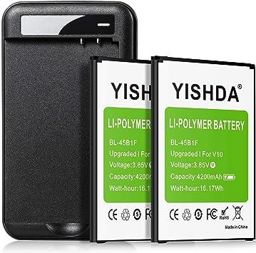 YISHDA - Batería de Repuesto para LG V10 (polímero de Litio, 2 x ...