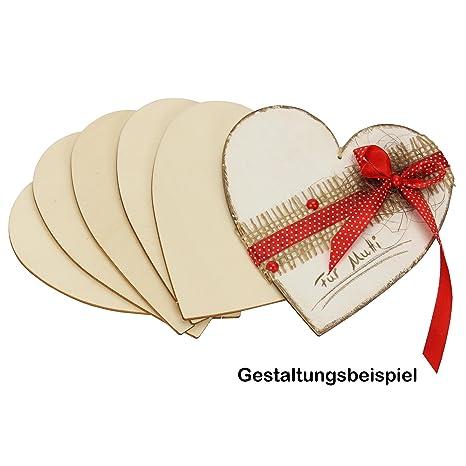 cm  DEKO BASTELN BEMALEN B-WARE Holz Herz Herzen 3,4,5,6