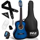 "Beginner 36"" Classical Acoustic Guitar - 3/4 Junior Size 6 String Linden Wood Guitar w/ Gig Bag, Tuner, Nylon Strings, Picks,"