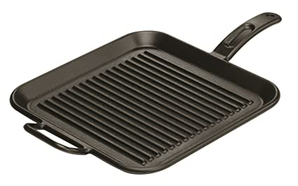 Lodge Presentar 30,48 cm / 12 pulgadas Pre-Seasoned Cast Iron Square Grill