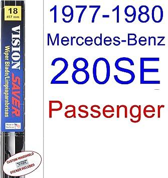 Amazon.com: 1977-1980 Mercedes-Benz 280SE Wiper Blade (Passenger) (Saver Automotive Products-Vision Saver) (1978,1979): Automotive