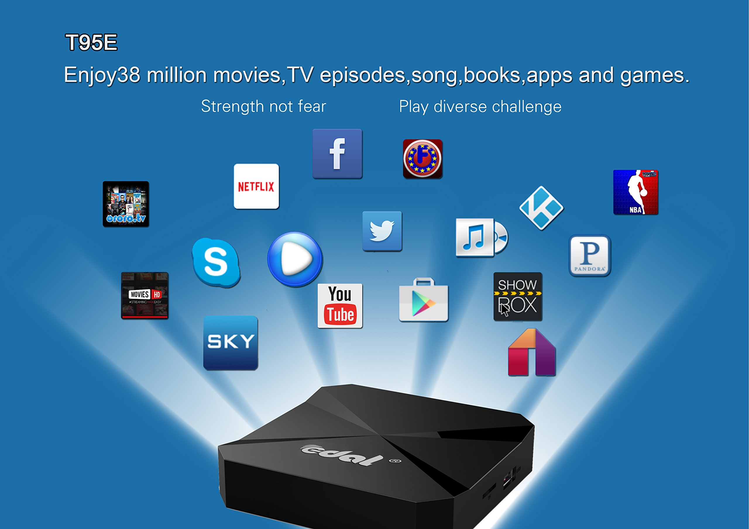 Edal T95E Android TV BOX RK3229 Quad Core 32bit TV Box 1GB/8GB wifi 2 4GHz  support 4K HD Video HDMI TV Box