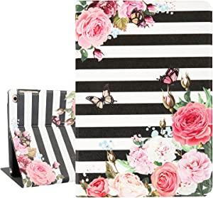 Hepix Pink Flowers iPad Air 2 Cases with Butterfly Floral iPad Case 9.7