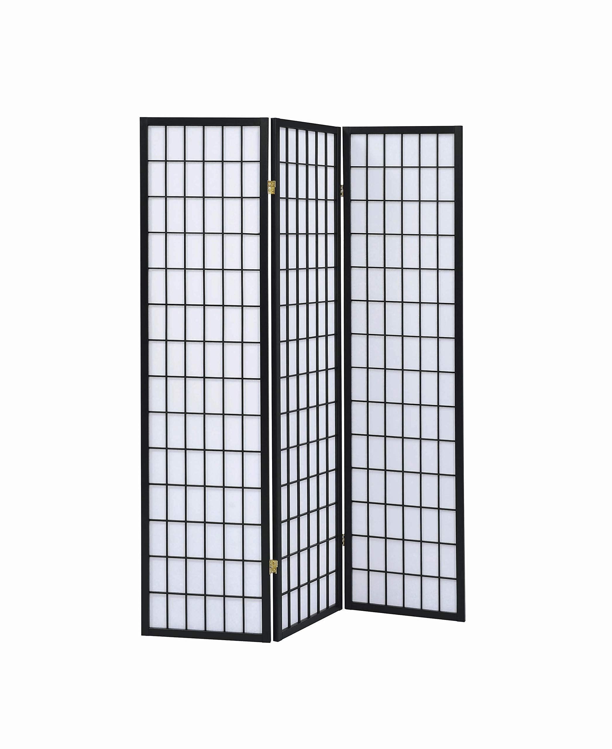 3-Panel Folding Screen Black and White by Coaster Home Furnishings
