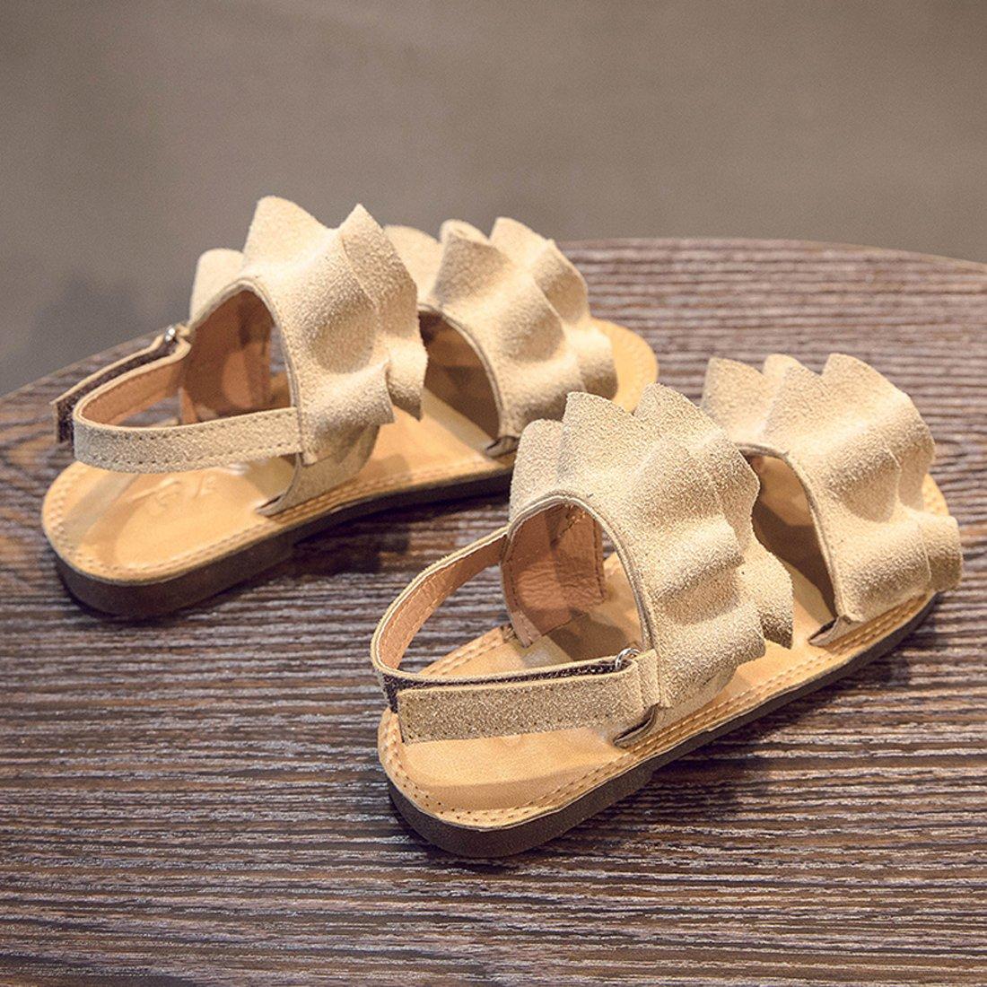 YIBLBOX Kids Toddler Girls Wedding Party Dress Princess Shoes Flats Beach Sandals