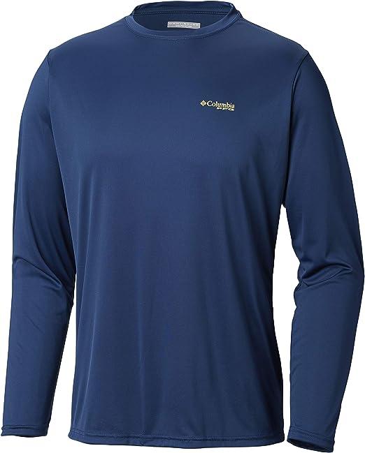 Carbon Mens M Columbia PFG Terminal Tackle Triangle Long Sleeve Fishing Shirt