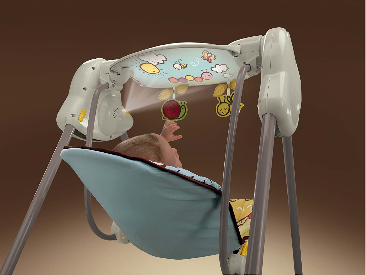 Amazon.com : Fisher-Price Musical Projection Swing (Discontinued by ...
