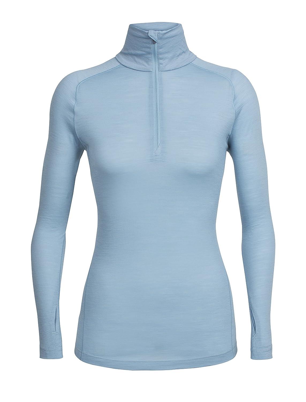 Icebreaker Merino Womens Zeal Long Sleeve Half Zip Pullover Top Odor Resistant Merino Wool