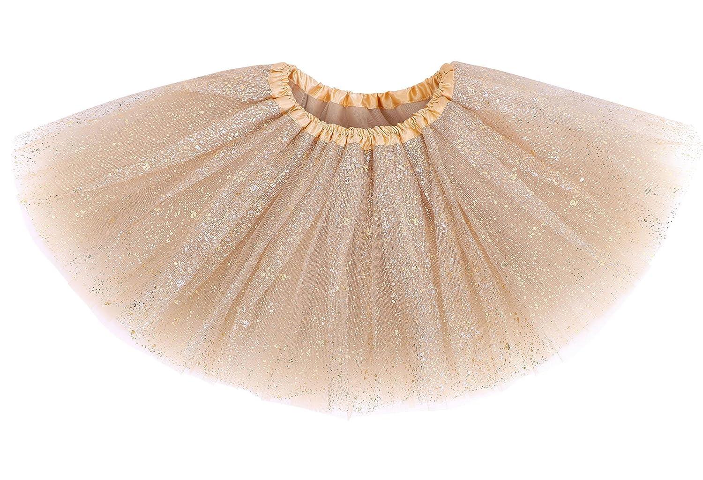 Girls Kids Princess Birthday Party Layered Dress-Up Sequins Ballet Tutu Skirt