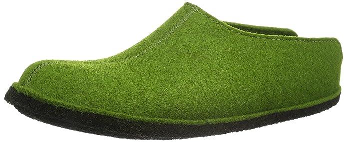 Haflinger Smily, Unisex-Erwachsene Pantoffeln, Grün (Grasgrün 36), 47 EU