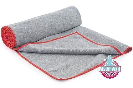 ProSource faveo Hot Yoga Mat Toalla, Gris/Rojo: Amazon.es ...