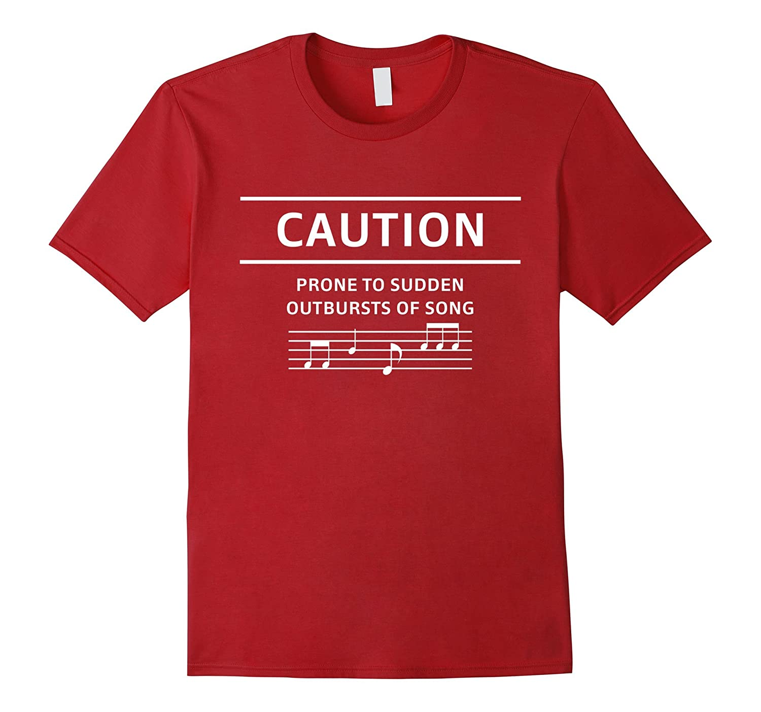 Caution Prone To Sudden Outbursts Of Song Choir Music Shirt-BN