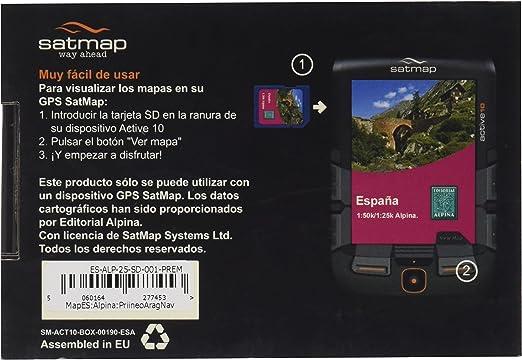 Satmap ES-ALP-25-PREM-SD-001 - Tarjeta con mapas del Pirineo Navarro y Aragonés para GPS: Amazon.es: Deportes y aire libre