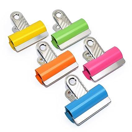 Rapesco - Caja de 10 Pinzas/clips de 60mm, hasta 190 hojas de capacidad